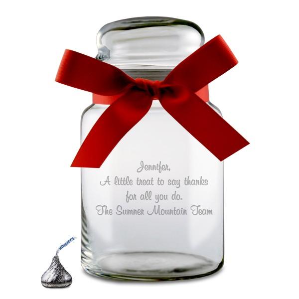 personalized glass candy jar