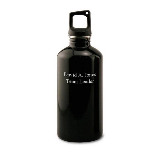 Personalized Black Water Bottle