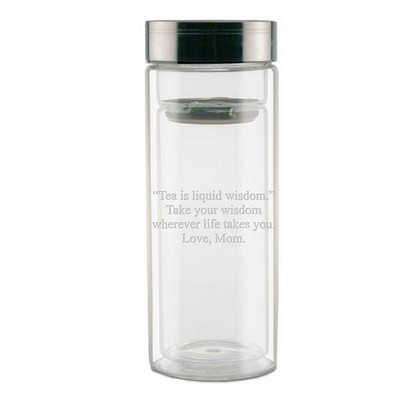 Personalized Glass Thermos with Strainer