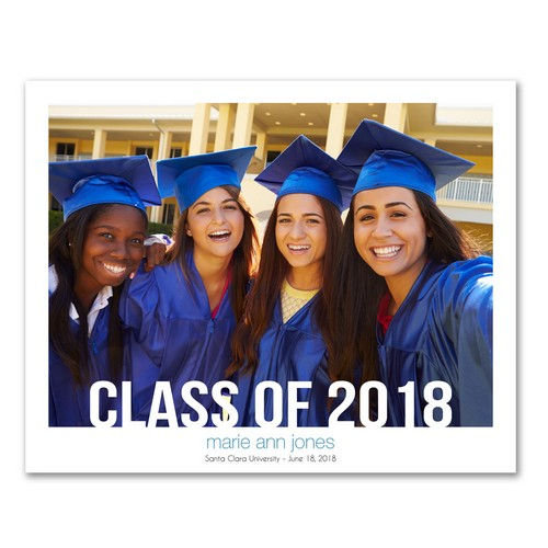 Personalized 8x10 Graduation Photo Print