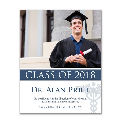 Personalized Medical School Graduate 11x14 Photo Print