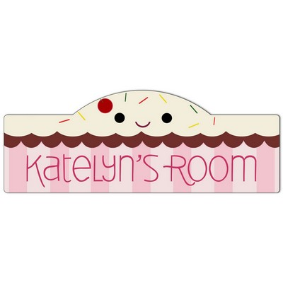 Girls Room Personalized Cupcake Sign