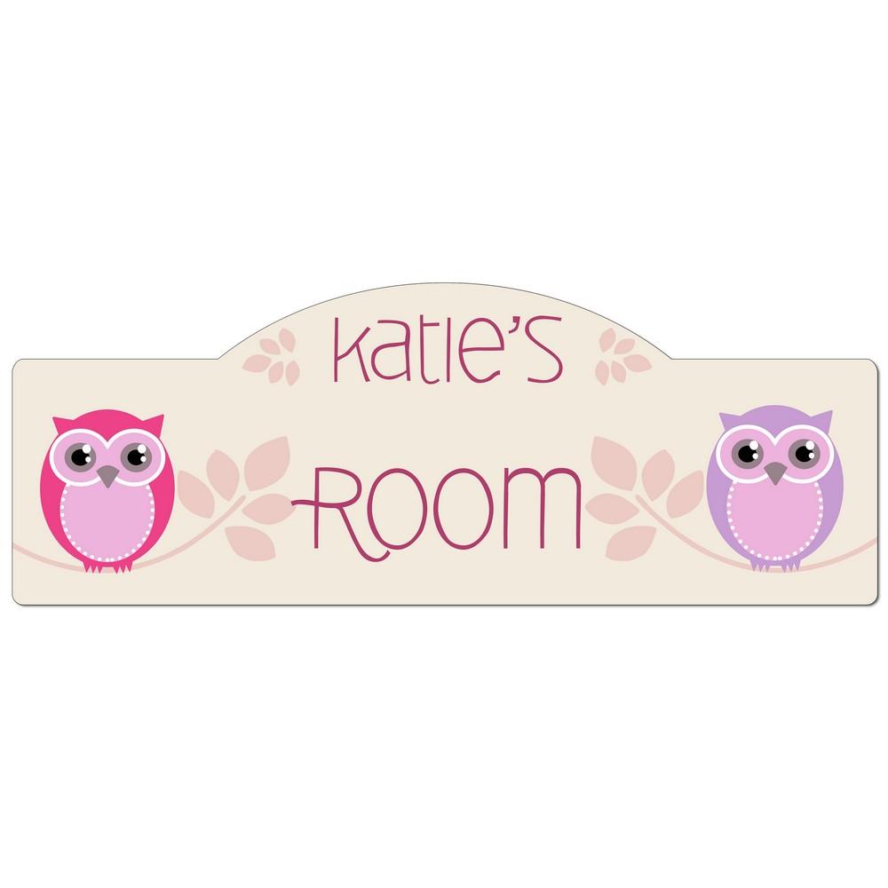 Girls Room Personalized Owl Door Sign. Room Personalized Owl Door Sign