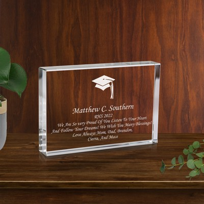 Graduation Crystal Keepsake