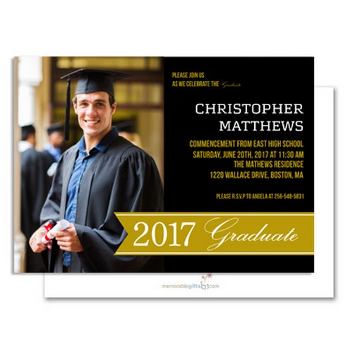 Celebrate the Graduate Personalized Announcement Card