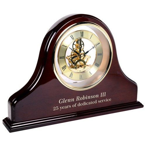 Grand Piano Personalized Rosewood Mantel Clock