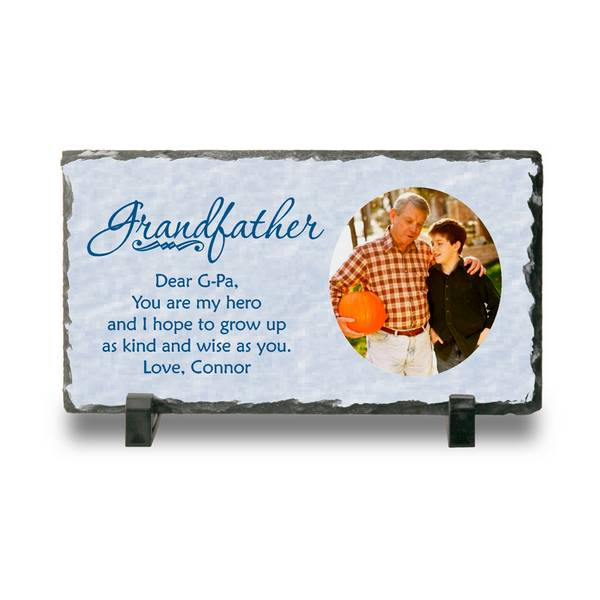 Personalized Photo Slate Plaque for Grandpa | Personalized ...