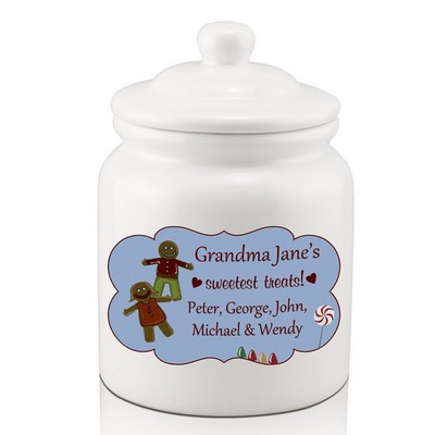 Grandmas Personalized Cookie Jar