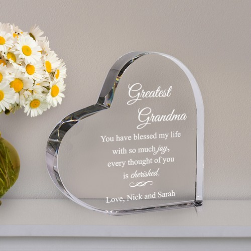 Greatest Grandma Personalized Acrylic Keepsake Heart
