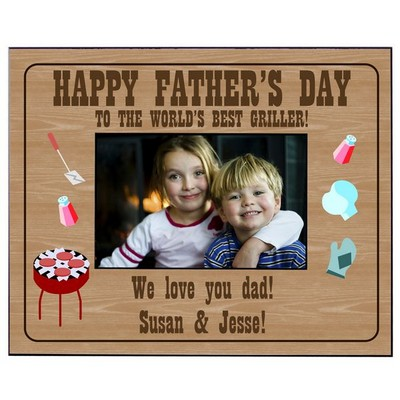 Personalized Fathers Day Griller Picture Frame