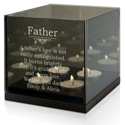 Guiding Light Quad Candle Holder for Dad