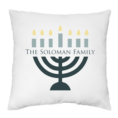 Hanukkah Menorah Personalized Family Pillow Case