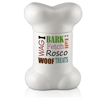 Happy Dog Personalized Treat Jar
