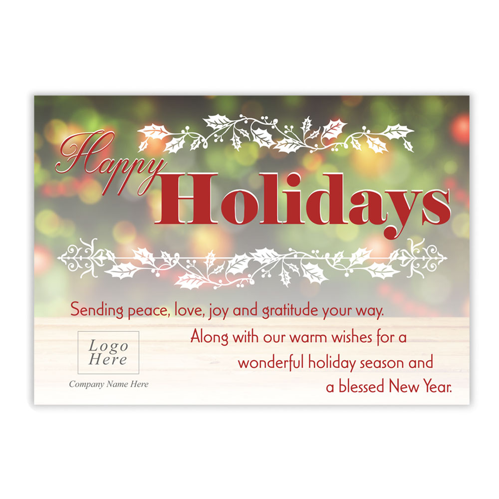Happy Holidays Cards For Business Geccetackletarts