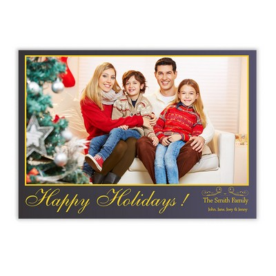 Happy Holiday Family Photo Card