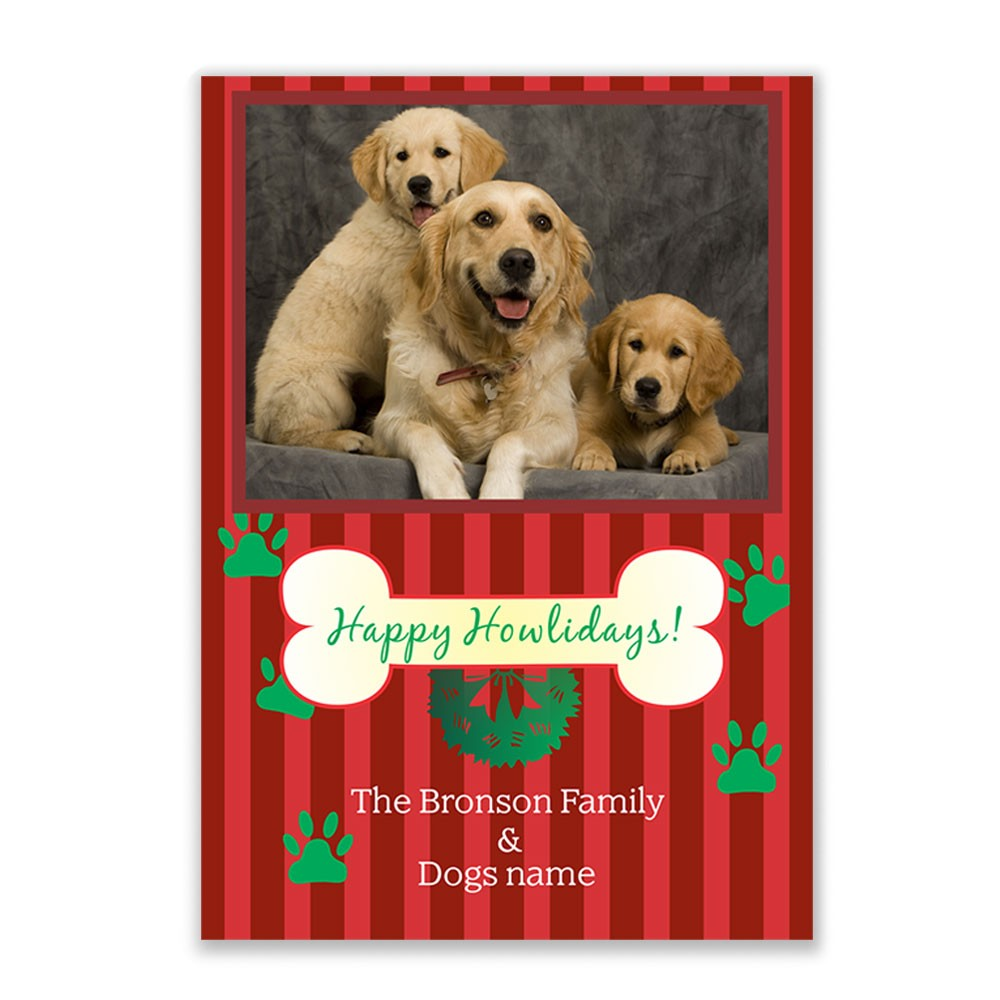 Happy Howlidays Photo Christmas Card