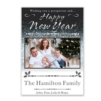 Happy New Year family Photo Card