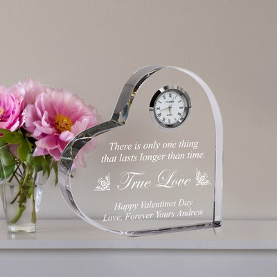 Heart Shape True Love Crystal Clock