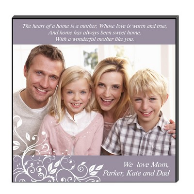 Heartfelt Family Photo Personalized Wall Art