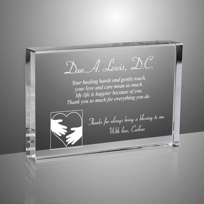 Heartfelt Thank You Personalized Crystal Plaque for Doctors