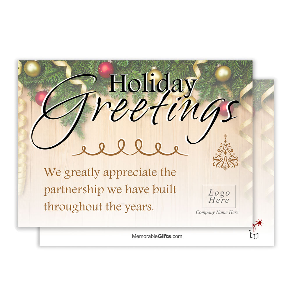 Holiday Greetings Corporate Card