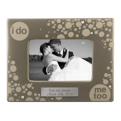 I Do Me Too Personalized Ceramic 4x6 Picture Frame