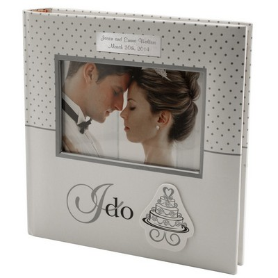I Do Personalized White Wedding Album
