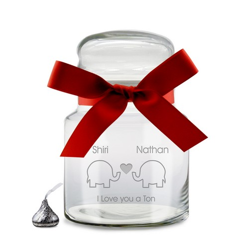 I Love You A Ton Personalized Candy Jar