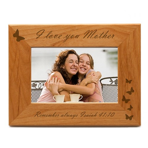 I Love You Mother Butterfly Photo Frame
