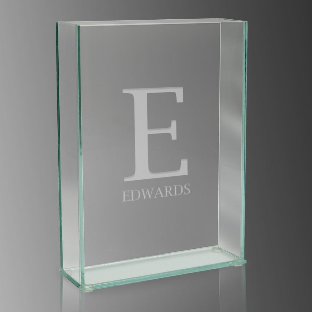 monogram modern rectangle glass vase - initial monogram modern rectangle glass vase