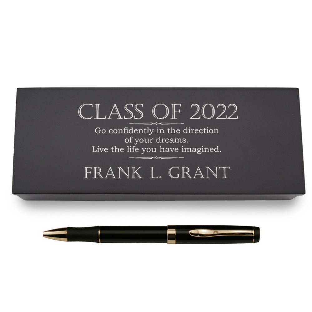 Graduation Pen in Personalized Wooden Case