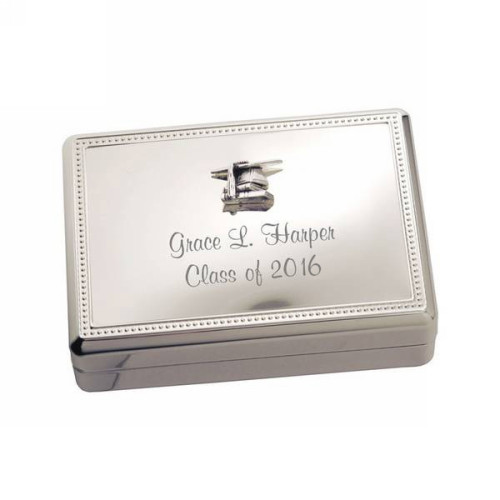 Silver Graduation Jewelry Box
