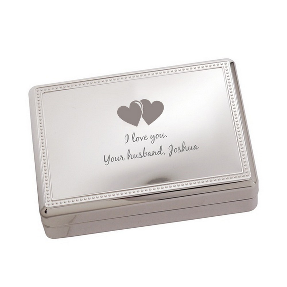 Romantic Hearts Jewelry Box