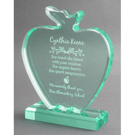 Wonderful Jade Apple Teacher Award Plaque AE39