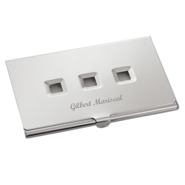 Exquisite Silver Plated Business Card Holder