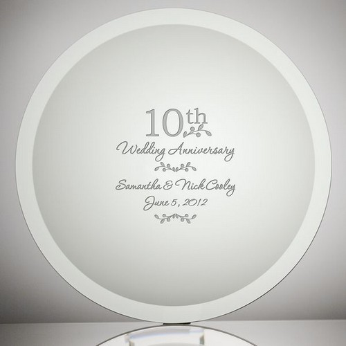 Jade Glass Personalized Anniversary Plate