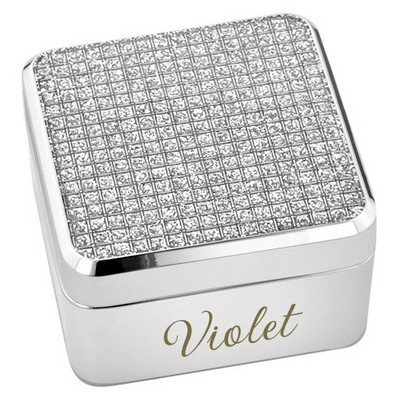Glitter Glam Silver Keepsake Box