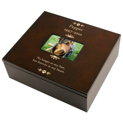 Pet Memorial Personalized Keepsake Box with Frame
