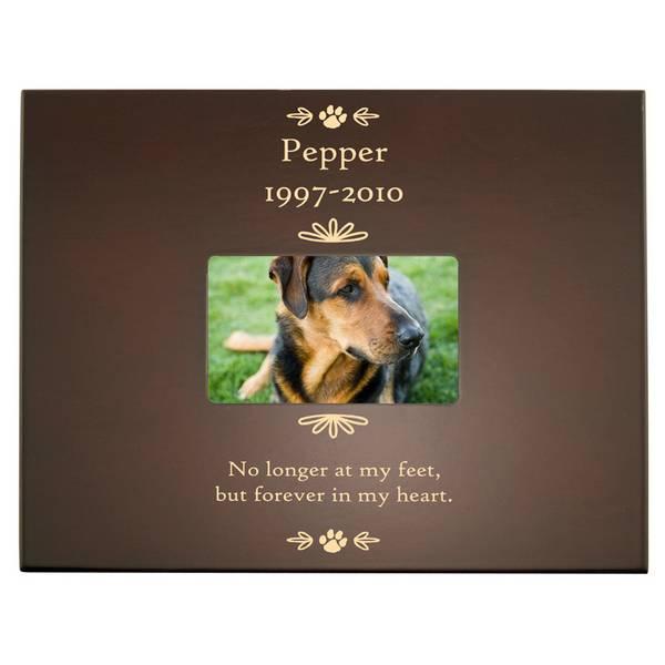 Pet Memorial Personalized Keepsake Box with Frame