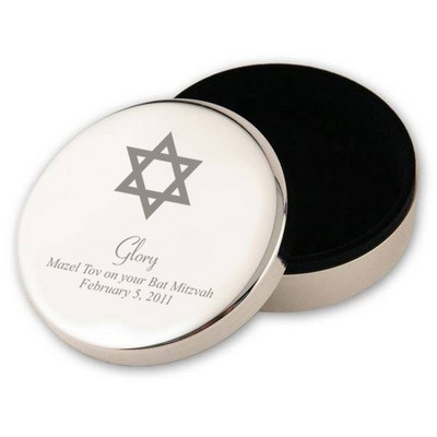 Silver Star of David Bat Mitzvah Keepsake Box