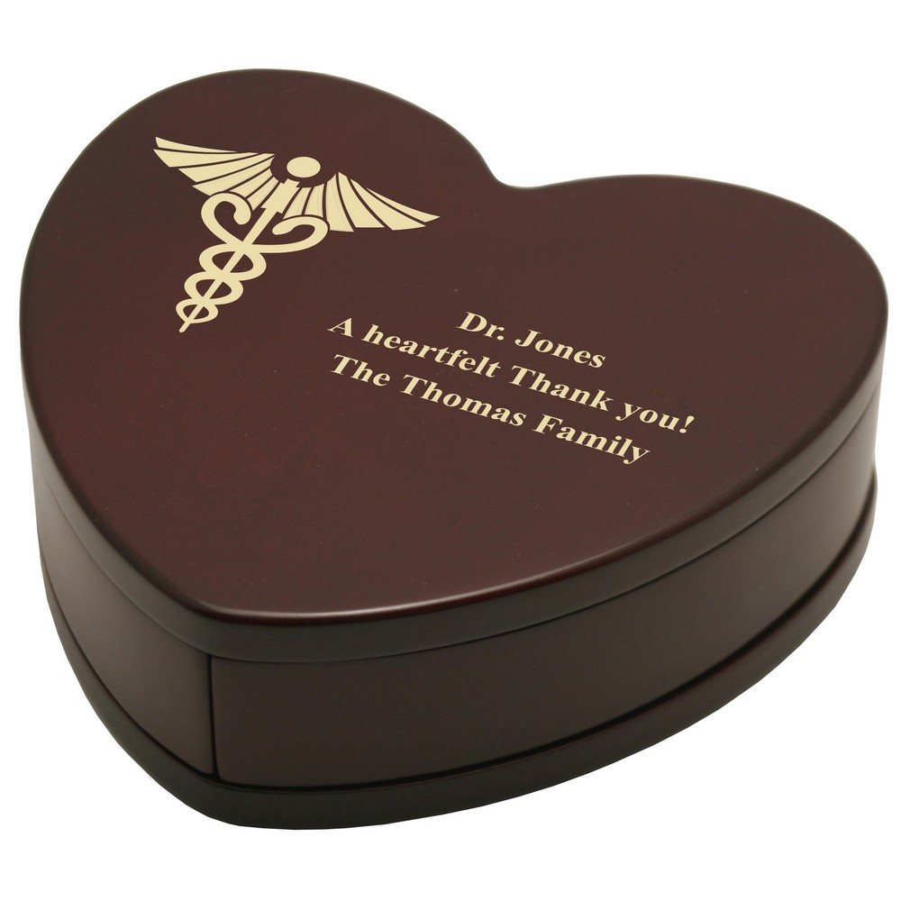 Personalized Heart Shaped Rosewood Keepsake Bo