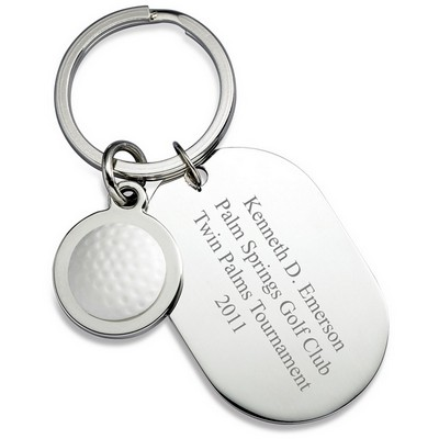 Personalized Dog Tag Golf Keyring
