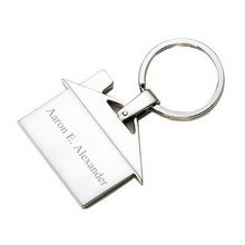Personalized House Keychain