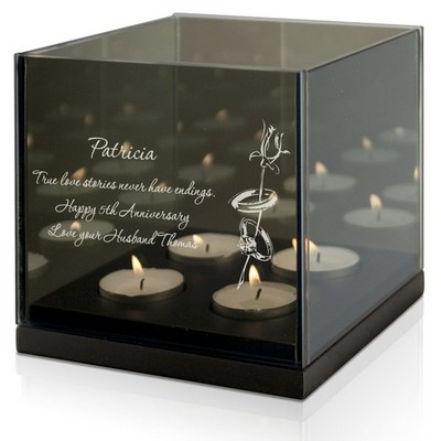 Wedding Rings Personalized Tea light Candle Holder