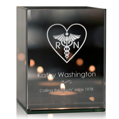 Personalized Nurse Thank You Tea light Candle Holder