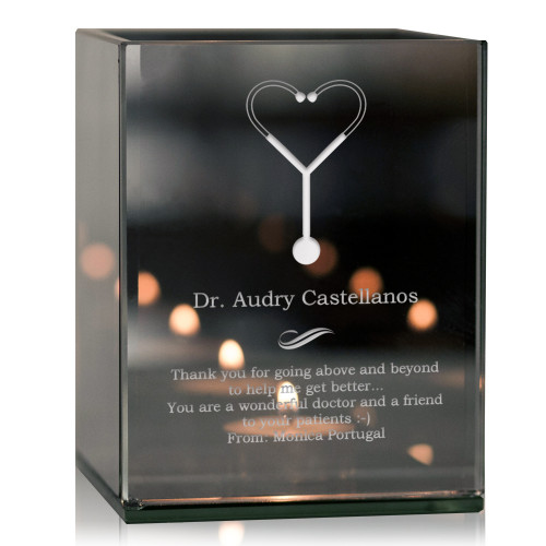 Personalized Doctor Thank You Tea light Candle Holder