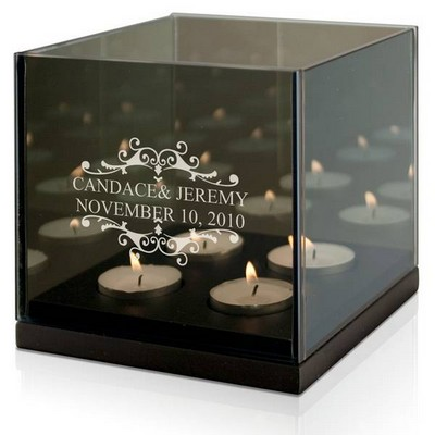 Elegant Wedding Day Tealight Candle Holder