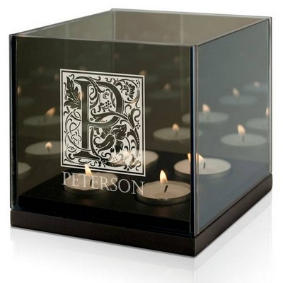Monogram Personalized Quad Tea light Candle Holder