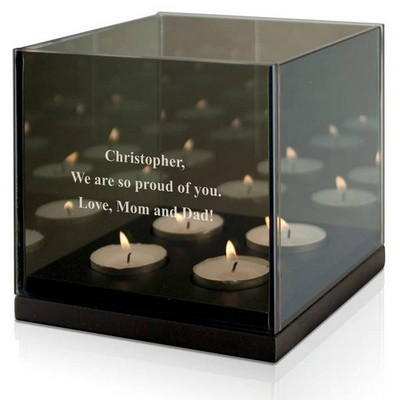 Quad Reflective Tealight Candle Holder