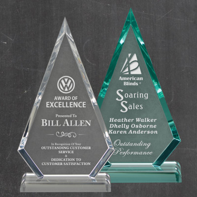 Arrowhead Clear or Jade Personalized Acrylic Award